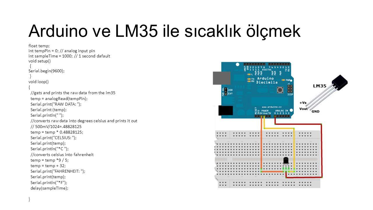 Arduino ve LM35 ile sıcaklık ölçmek