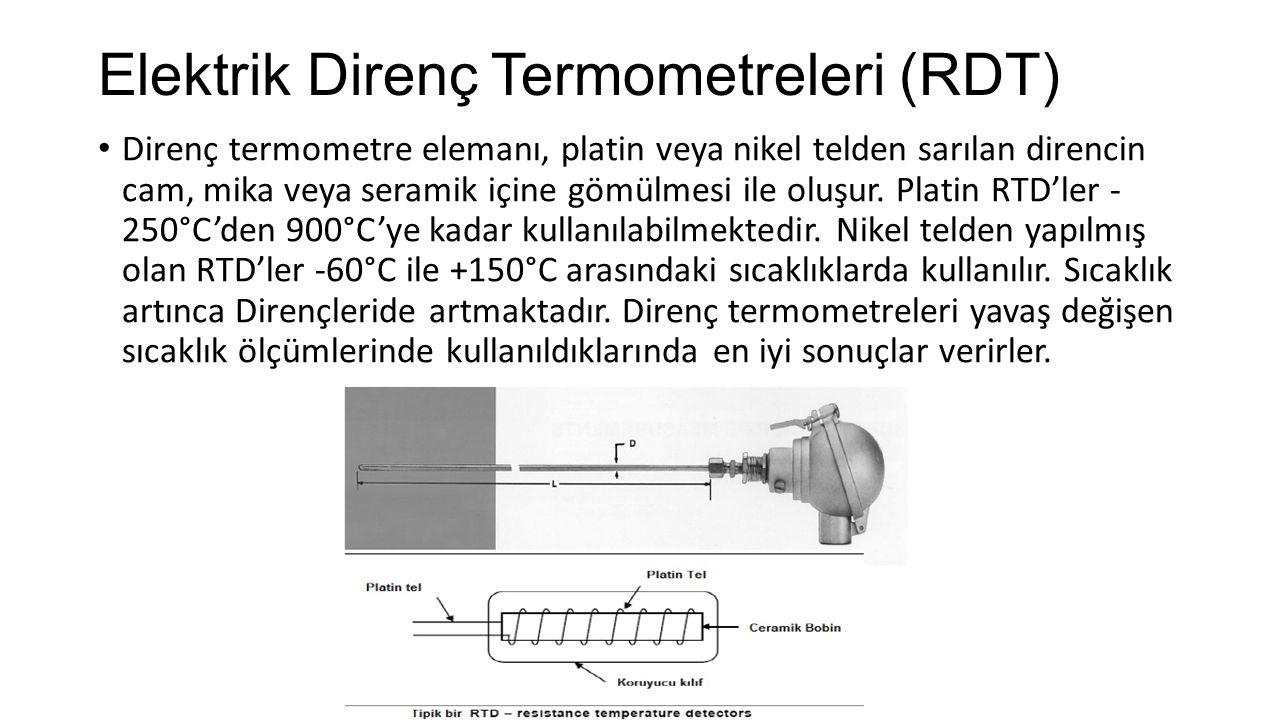 Elektrik Direnç Termometreleri (RDT)