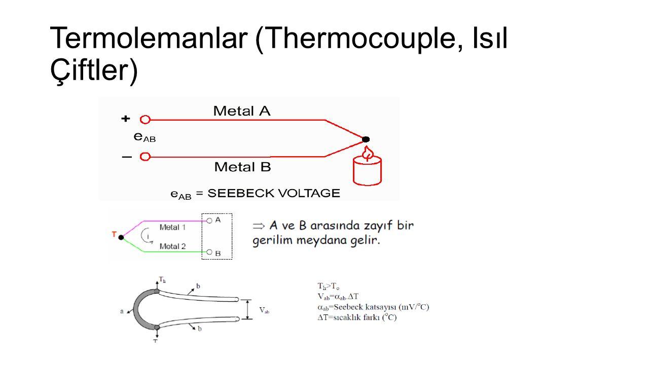 Termolemanlar (Thermocouple, Isıl Çiftler)