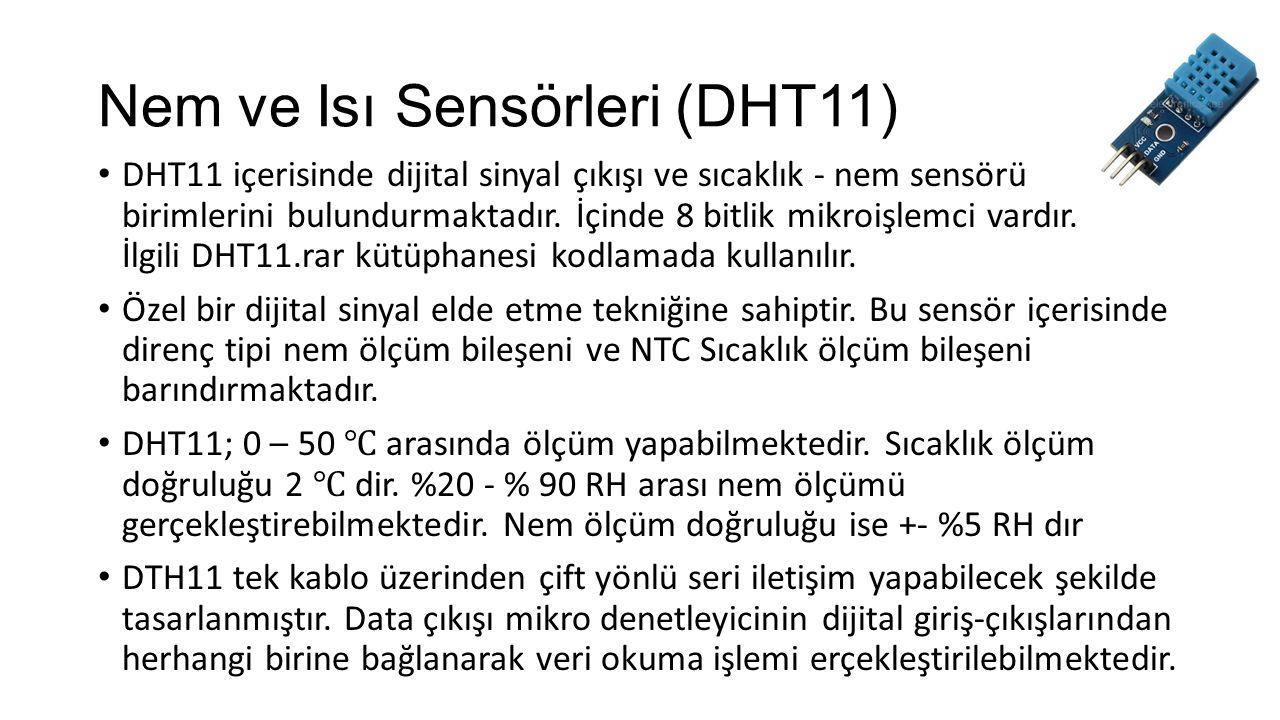 Nem ve Isı Sensörleri (DHT11)