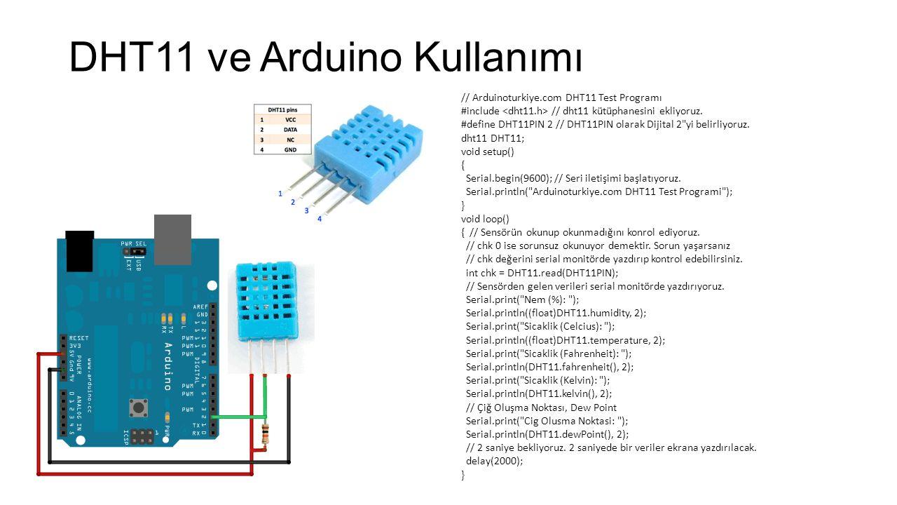DHT11 ve Arduino Kullanımı