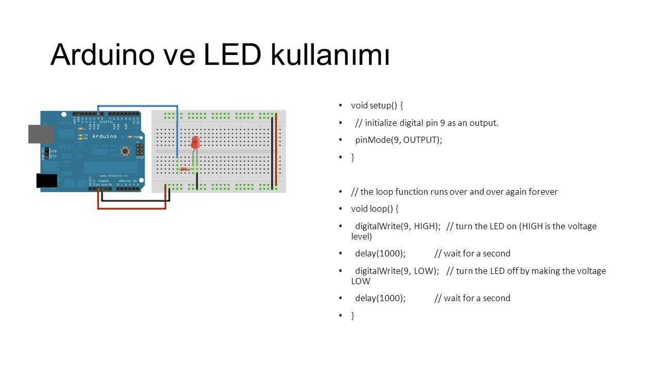 Arduino ve LED kullanımı