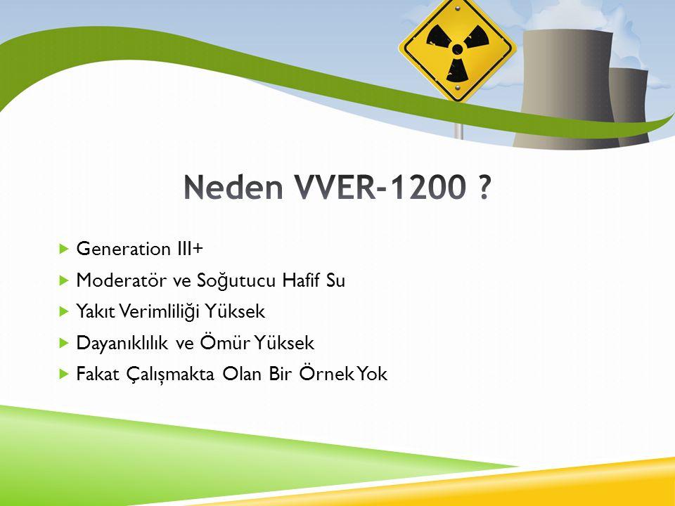 Neden VVER-1200 Generation III+ Moderatör ve Soğutucu Hafif Su