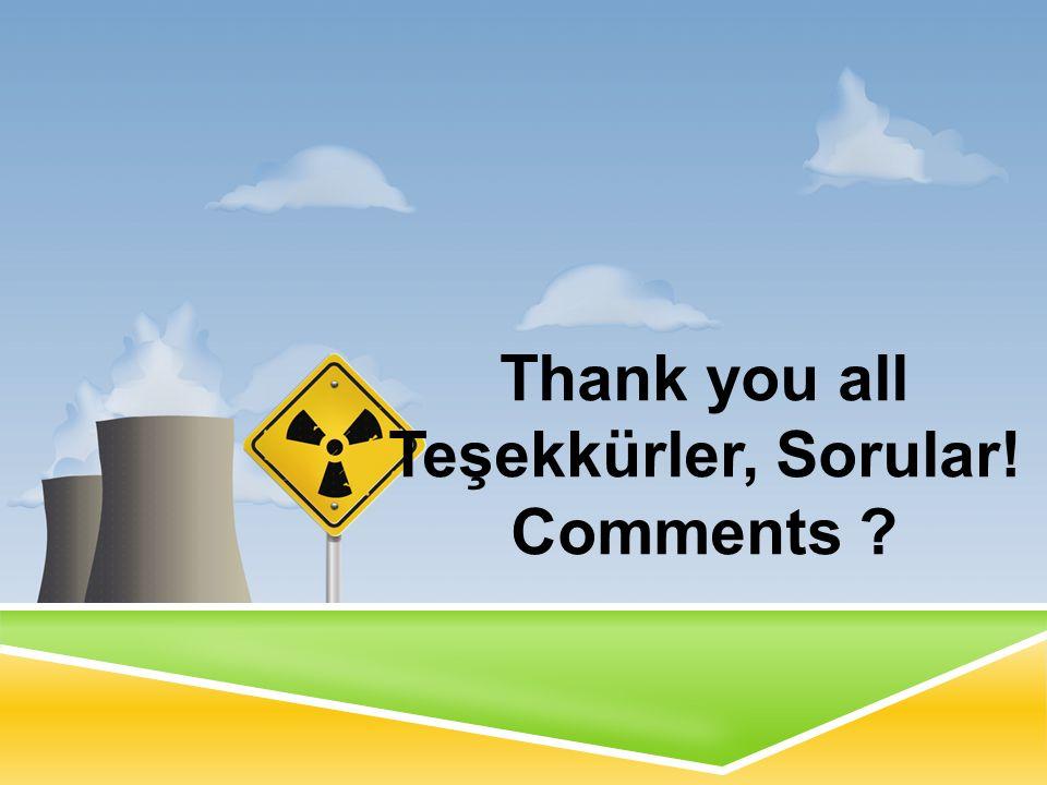 Thank you all Teşekkürler, Sorular! Comments