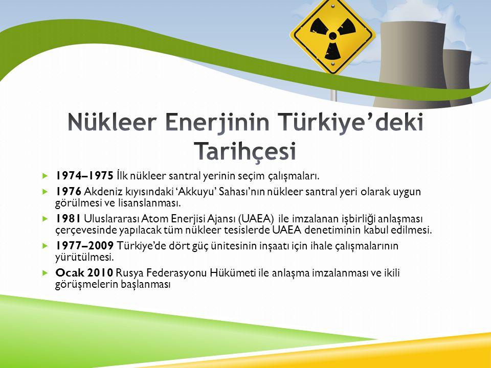 Nükleer Enerjinin Türkiye'deki Tarihçesi