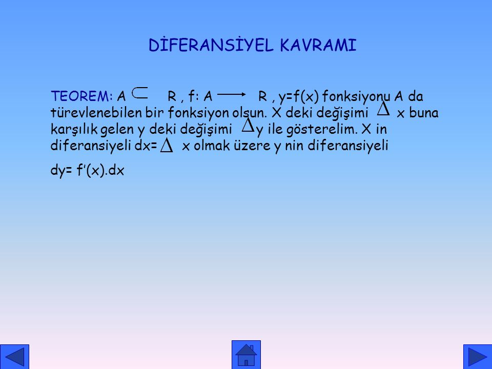 DİFERANSİYEL KAVRAMI