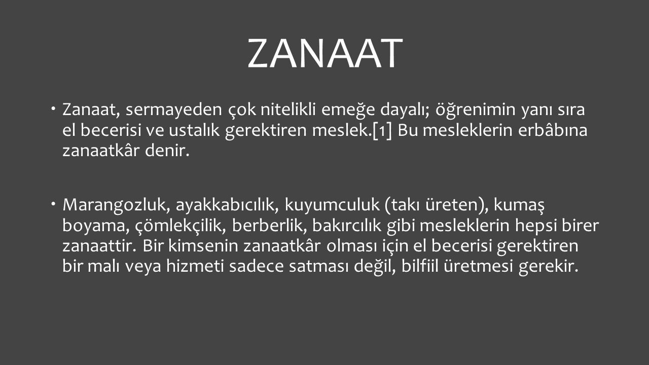 ZANAAT