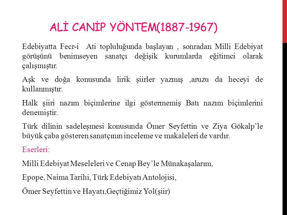 ALİ CANİP YÖNTEM(1887-1967)