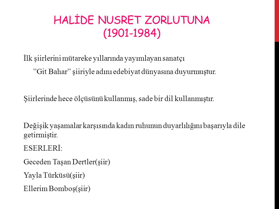 HALİDE NUSRET ZORLUTUNA (1901-1984)