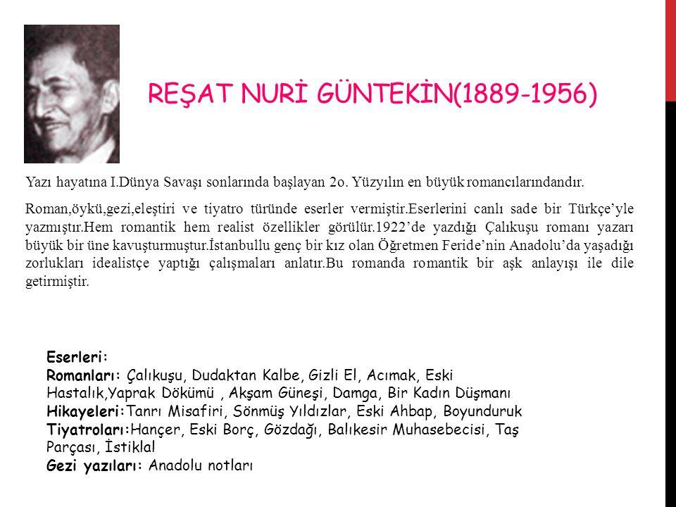 REŞAT NURİ GÜNTEKİN(1889-1956)