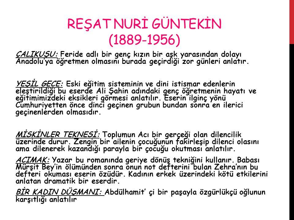 REŞAT NURİ GÜNTEKİN (1889-1956)