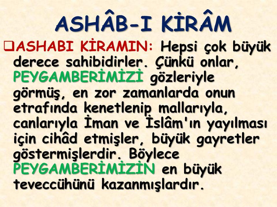 ASHÂB-I KİRÂM