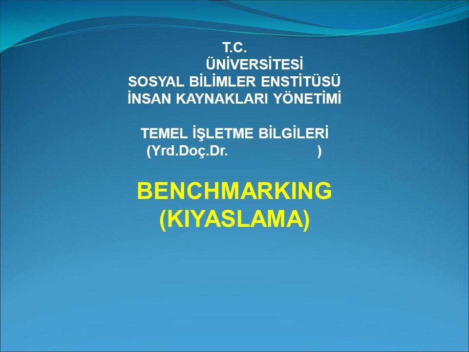 BENCHMARKING (KIYASLAMA)