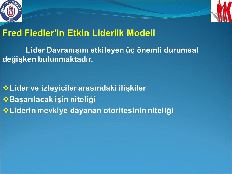 Fred Fiedler'in Etkin Liderlik Modeli