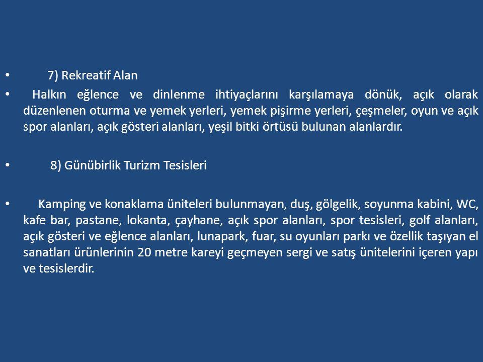 7) Rekreatif Alan