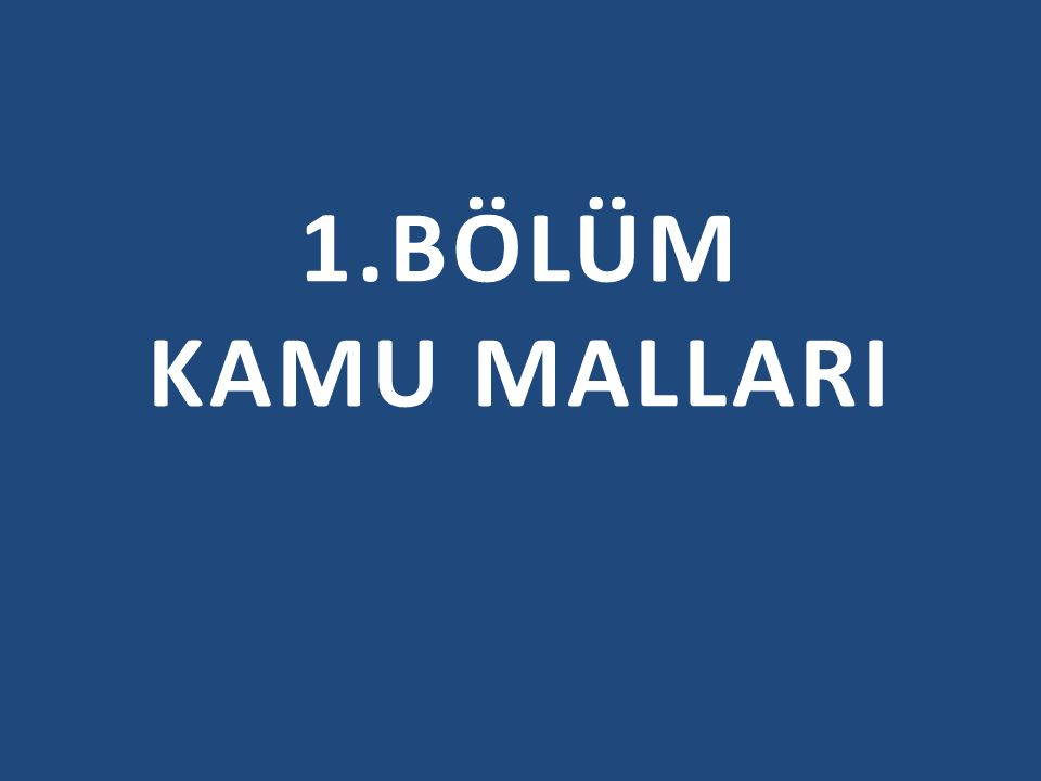 1.BÖLÜM KAMU MALLARI