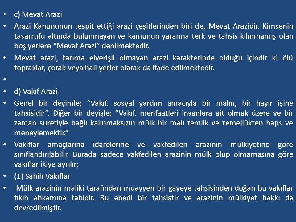 c) Mevat Arazi