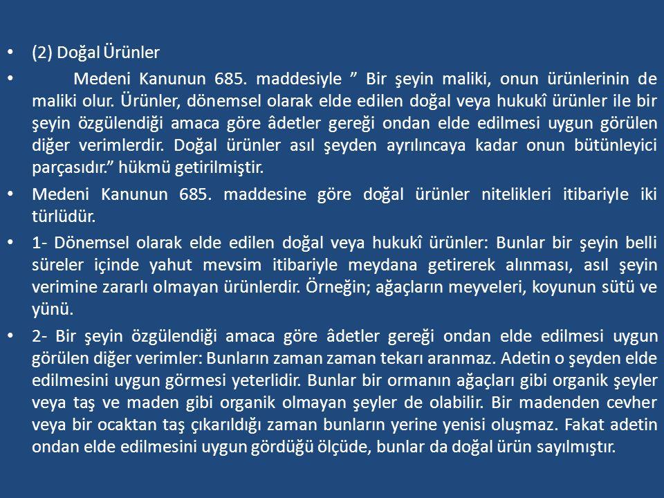 (2) Doğal Ürünler