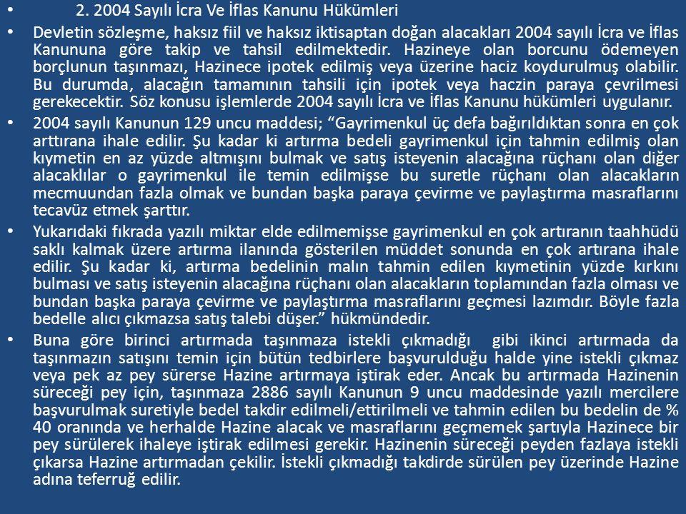 2. 2004 Sayılı İcra Ve İflas Kanunu Hükümleri