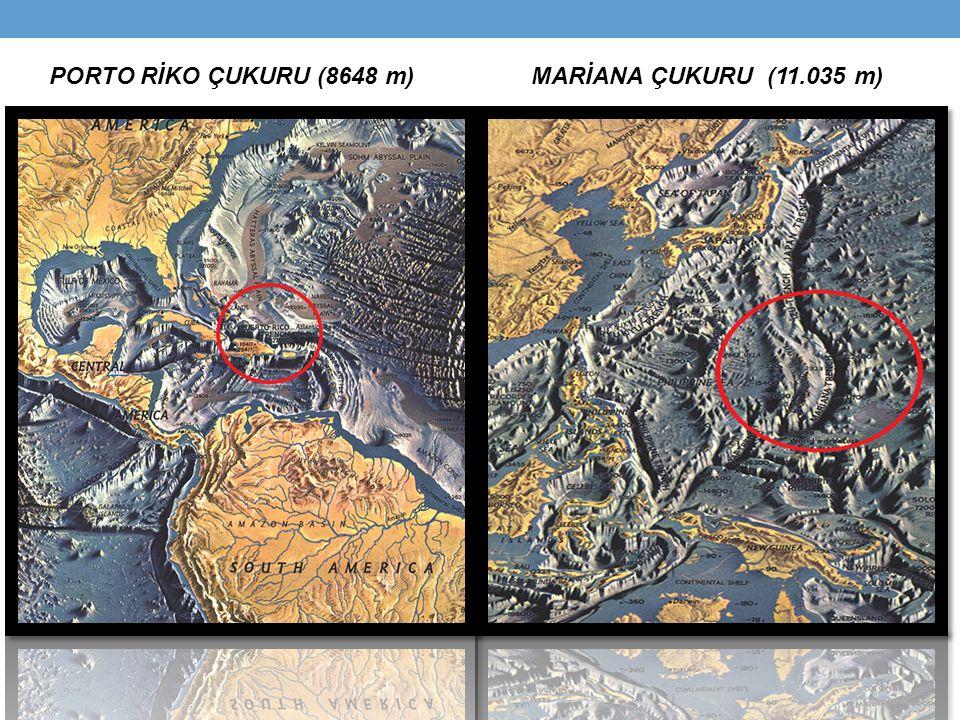 PORTO RİKO ÇUKURU (8648 m) MARİANA ÇUKURU (11.035 m)