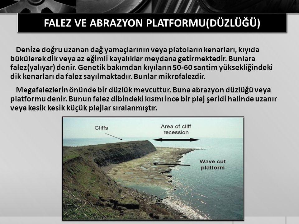 FALEZ VE ABRAZYON PLATFORMU(DÜZLÜĞÜ)