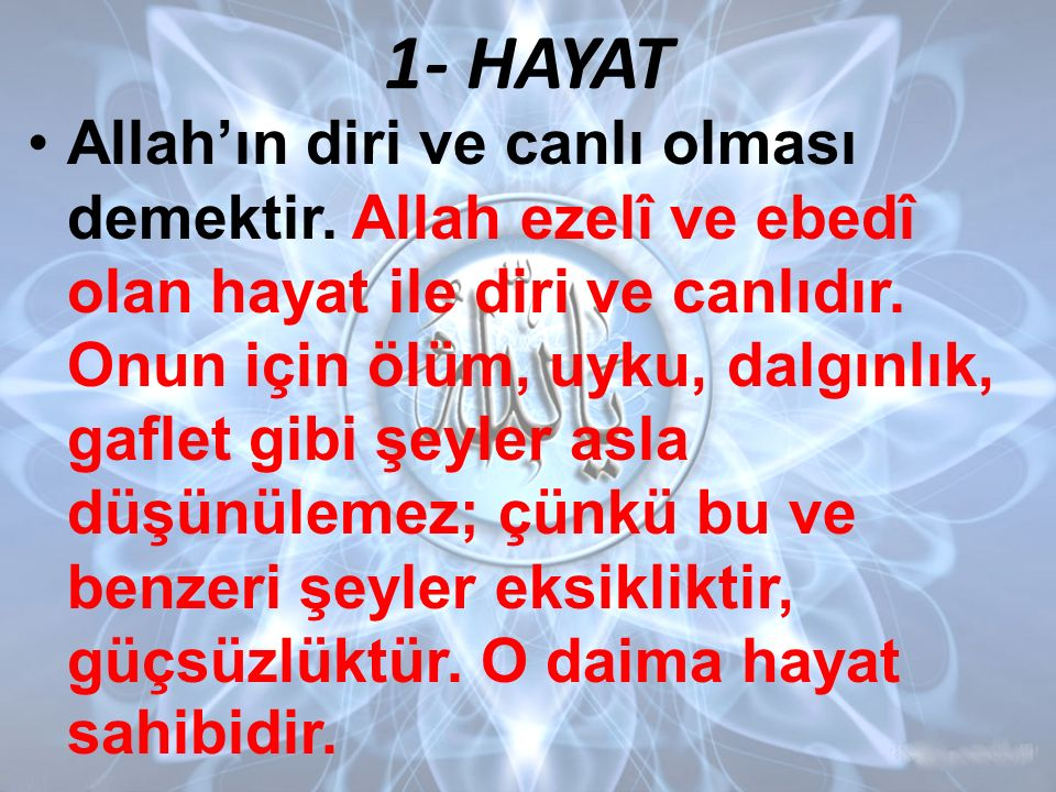1- HAYAT