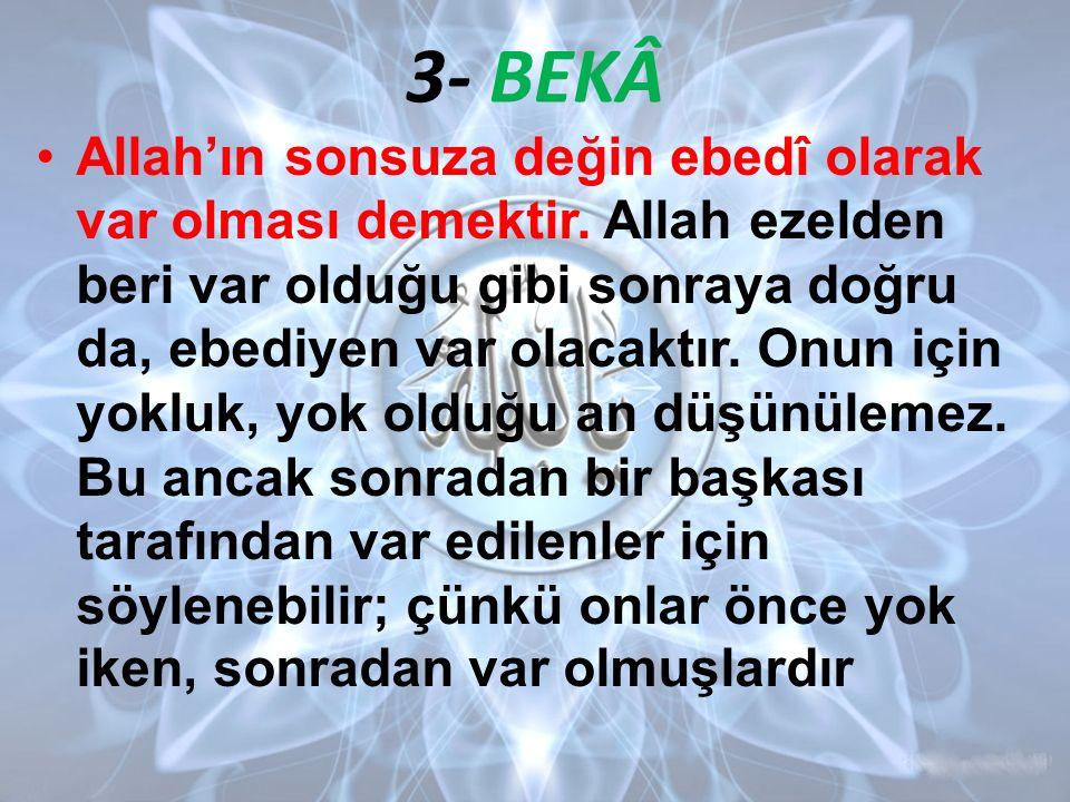 3- BEKÂ