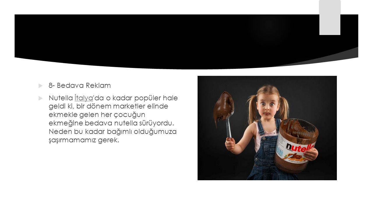 8- Bedava Reklam