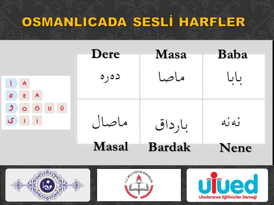 OSMANLICADA SESLİ HARFLER