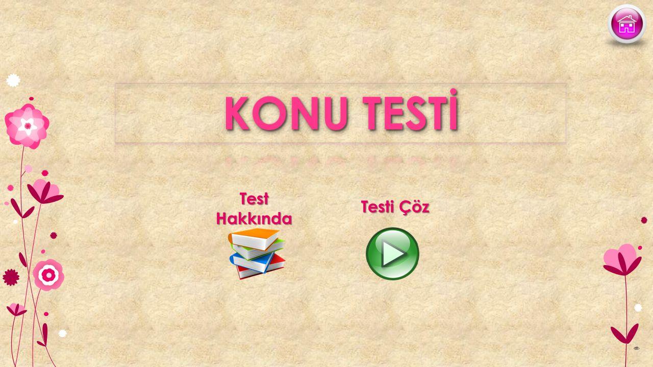 KONU TESTİ Test Hakkında Testi Çöz