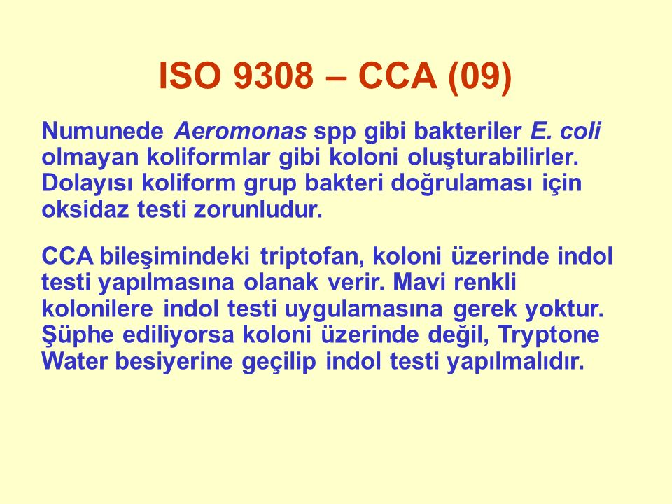 ISO 9308 – CCA (09)