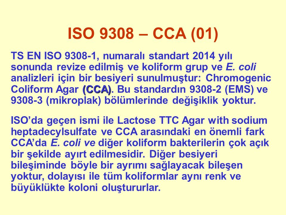 ISO 9308 – CCA (01)