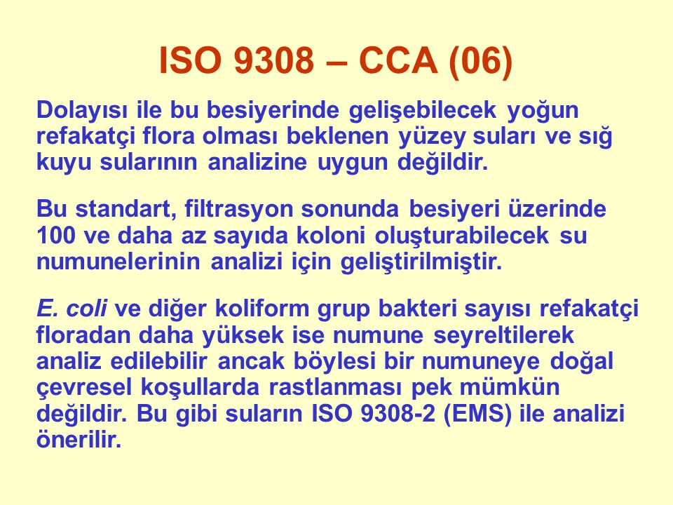 ISO 9308 – CCA (06)
