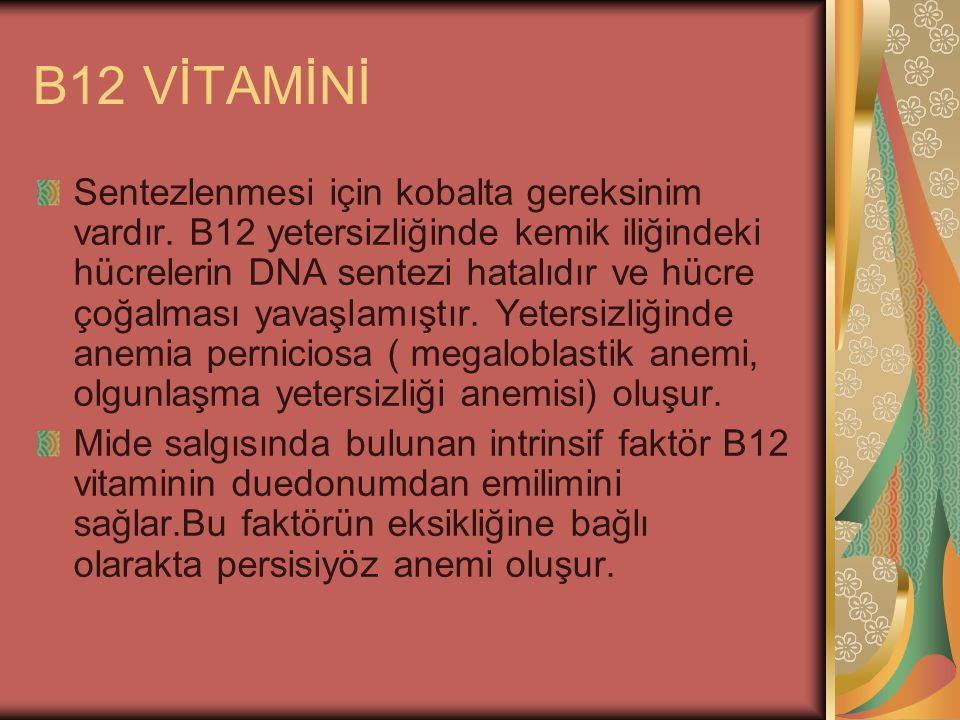 B12 VİTAMİNİ