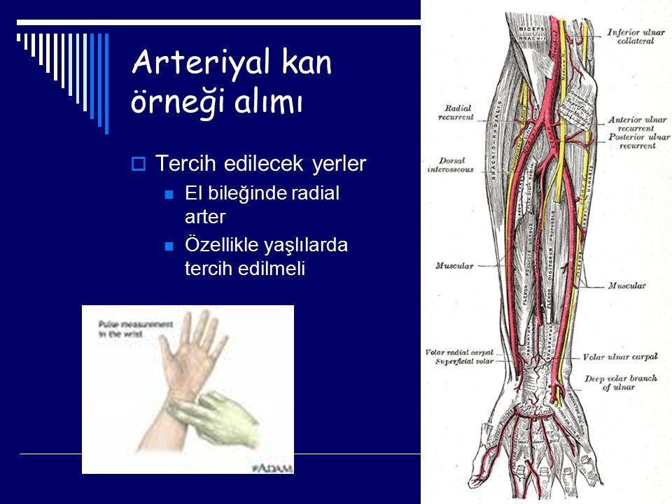 Arteriyal kan örneği alımı
