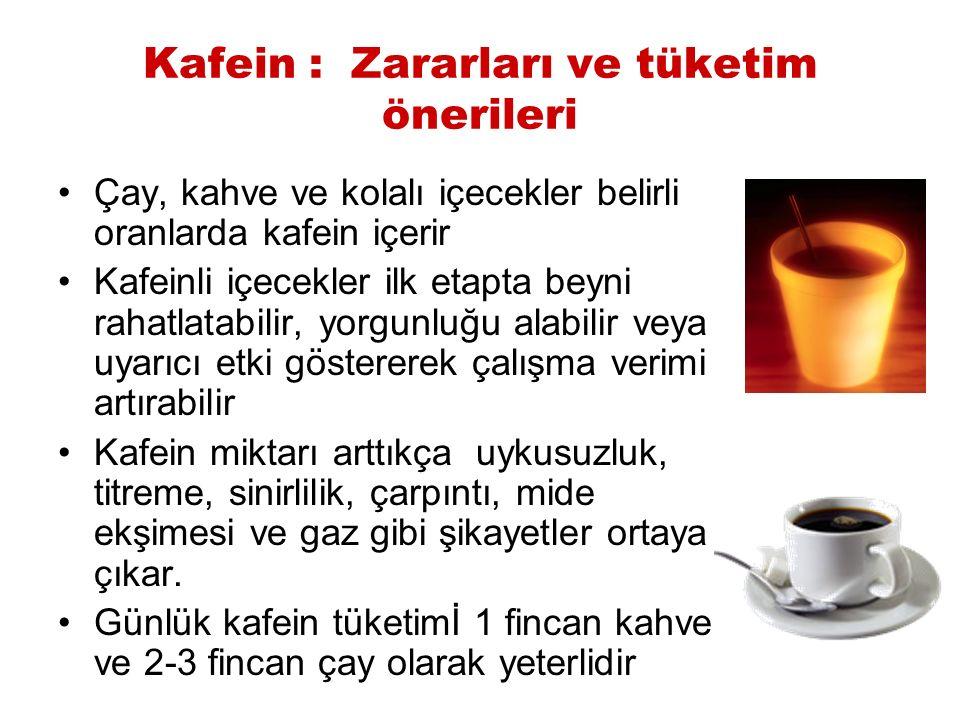 Kafein : Zararları ve tüketim önerileri