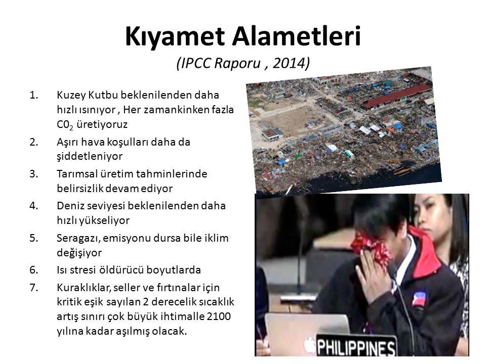 Kıyamet Alametleri (IPCC Raporu , 2014)