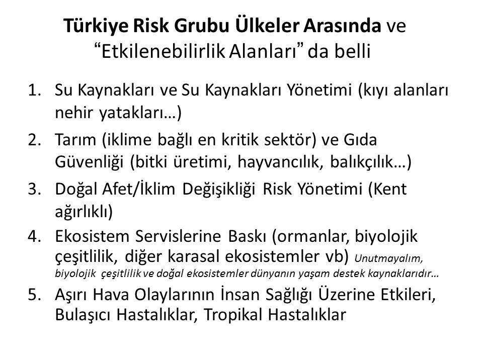 Türkiye Risk Grubu Ülkeler Arasında ve Etkilenebilirlik Alanları da belli
