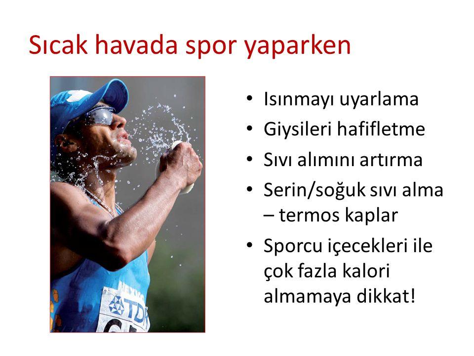 Sıcak havada spor yaparken