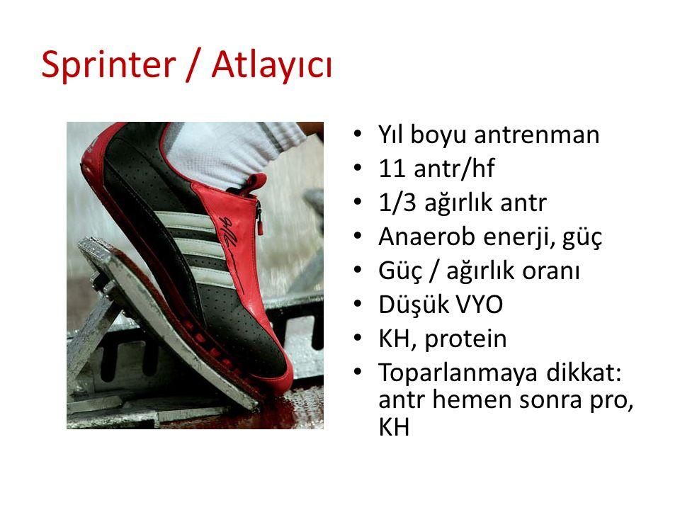 Sprinter / Atlayıcı Yıl boyu antrenman 11 antr/hf 1/3 ağırlık antr