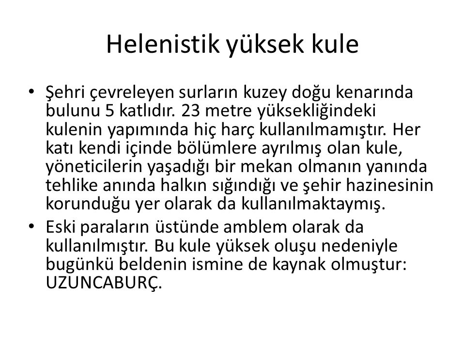 Helenistik yüksek kule