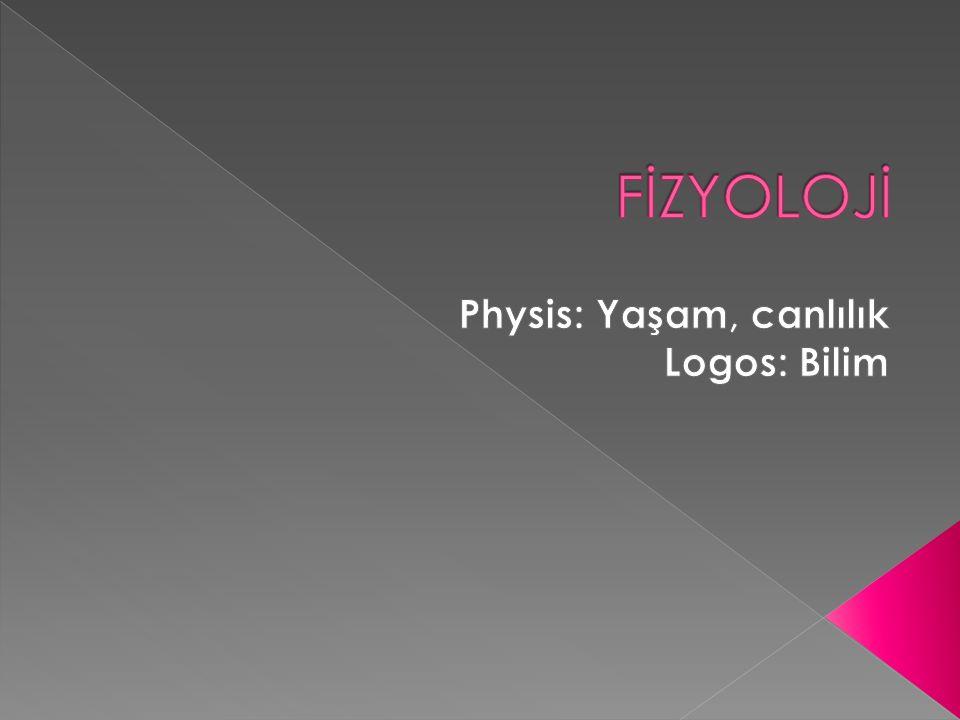 Physis: Yaşam, canlılık Logos: Bilim