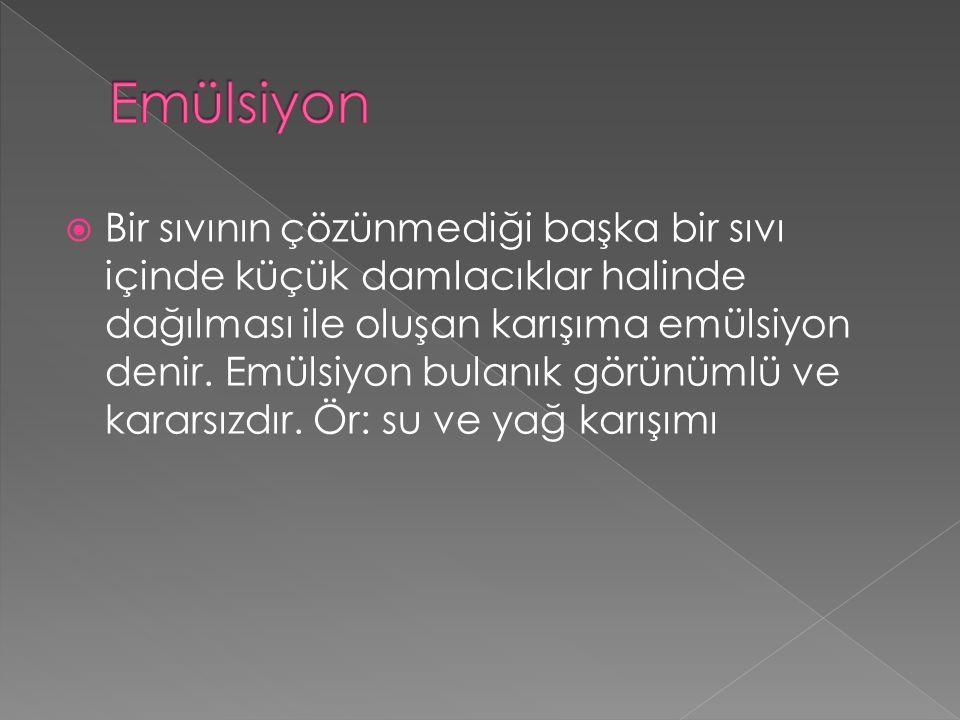 Emülsiyon