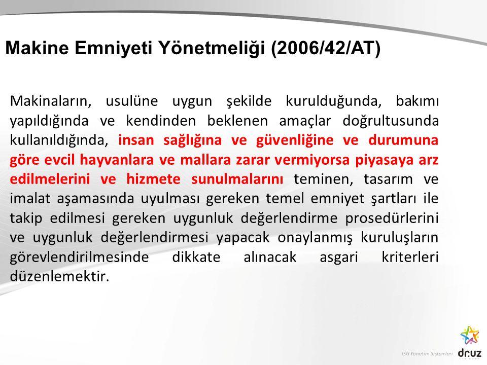 Makine Emniyeti Yönetmeliği (2006/42/AT)