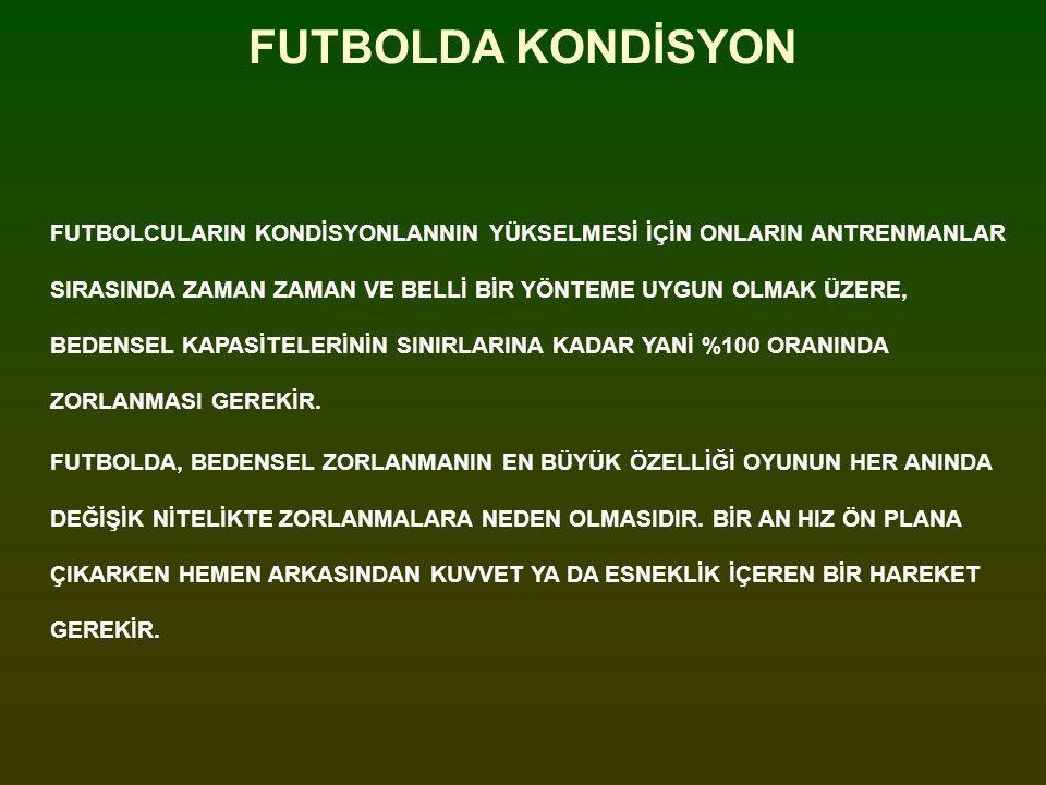 FUTBOLDA KONDİSYON