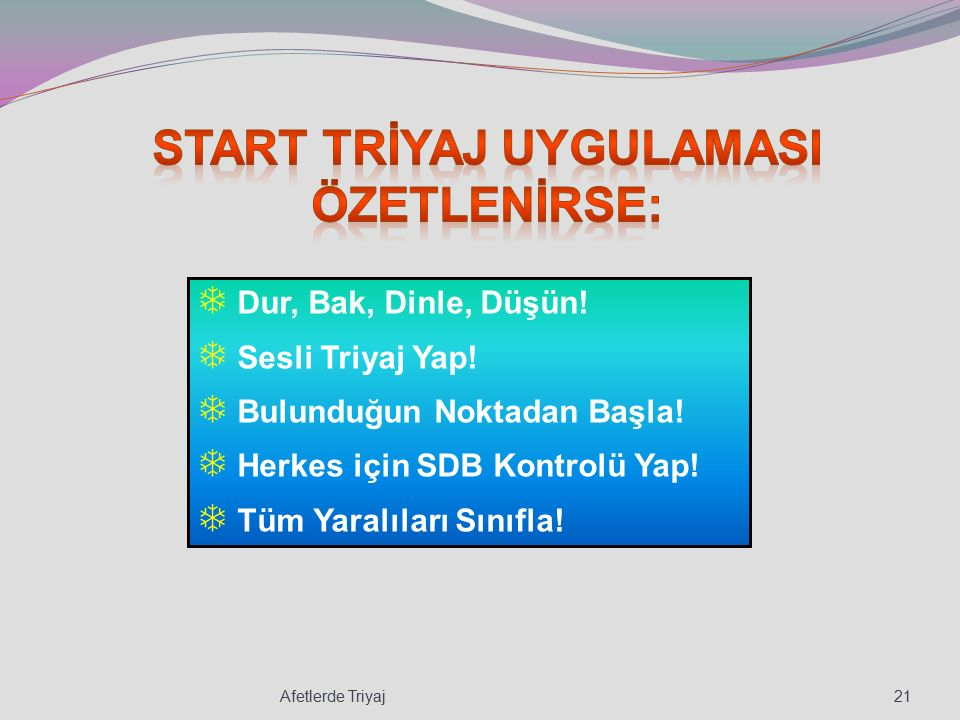 START trİyaj uygulamasI