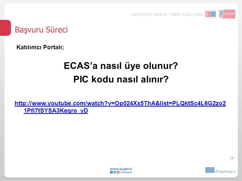 ECAS'a nasıl üye olunur