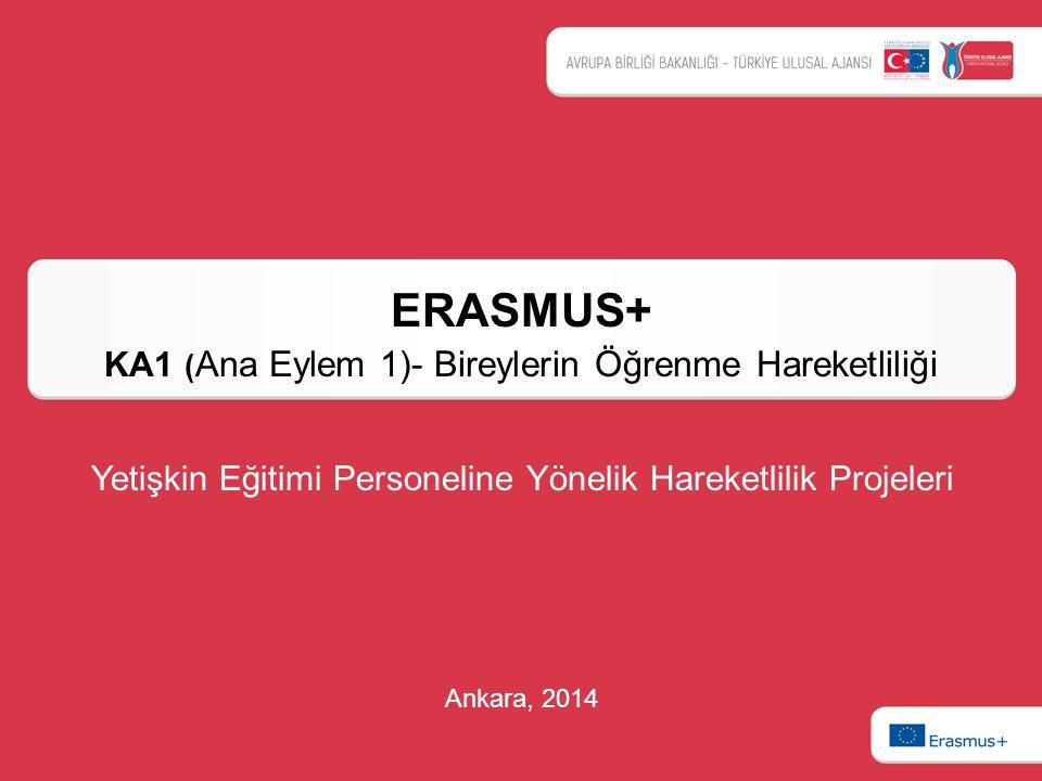 ERASMUS+ KA1 (Ana Eylem 1)- Bireylerin Öğrenme Hareketliliği