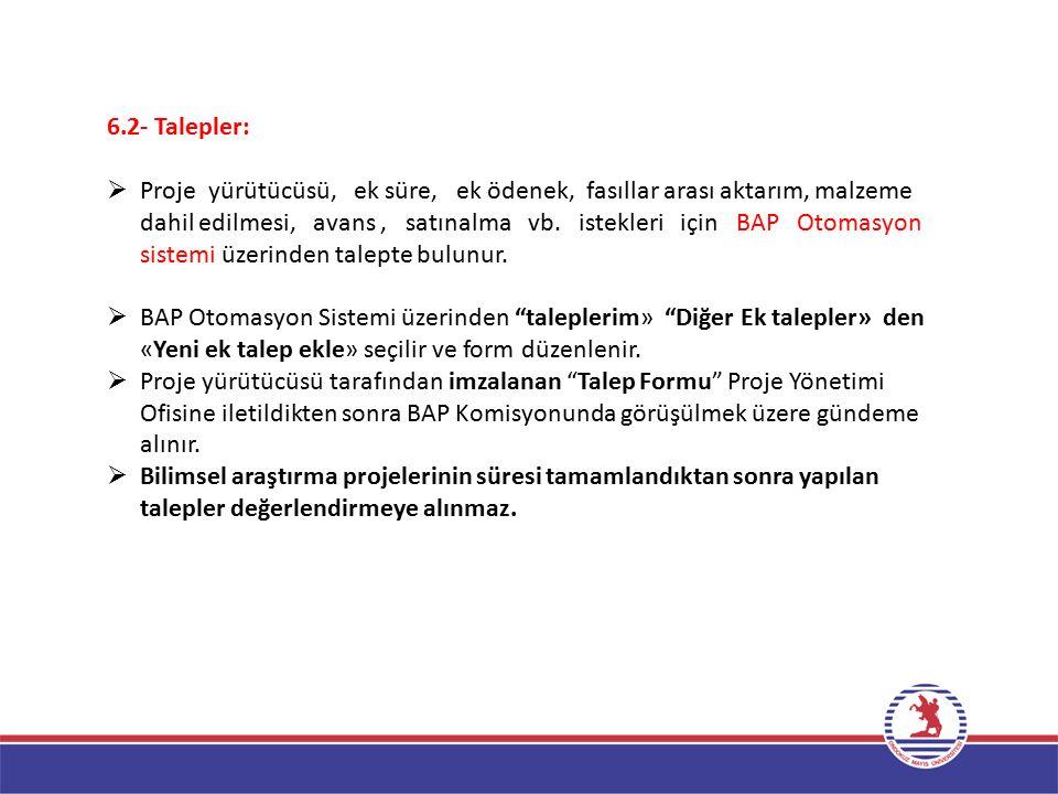 6.2- Talepler: