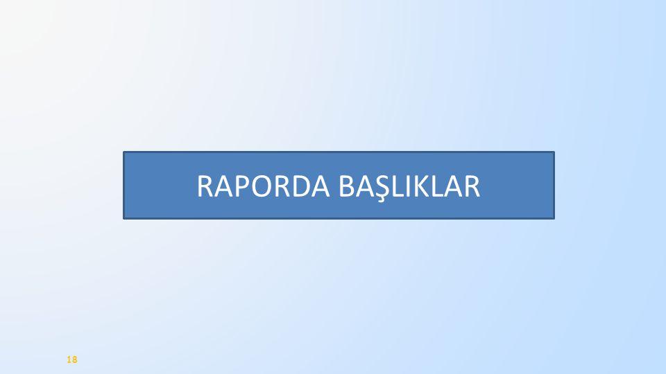 RAPORDA BAŞLIKLAR